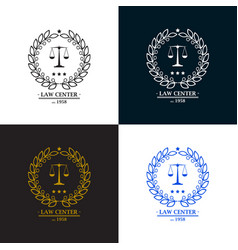 Law firm office center logo desig vector