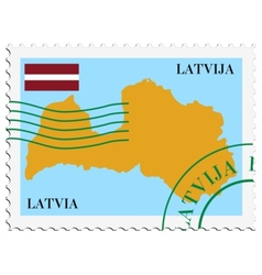 mail to-from Latvia vector image