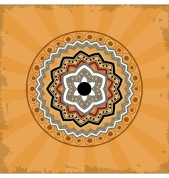 mandala over vintage background vector image