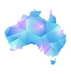 map of australia map concept polygon vector image