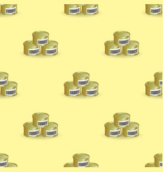 Metal cans seamless pattern vector