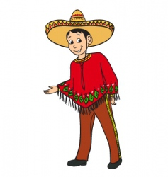 mexican boy vector image