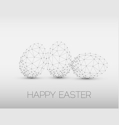 minimalistic geometric happy easter card vector image