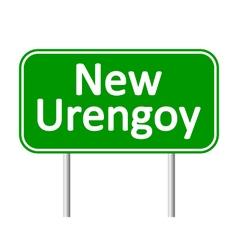 New Urengoy road sign vector