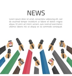 News banner poster template vector image