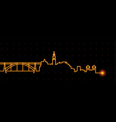 Porto light streak skyline vector