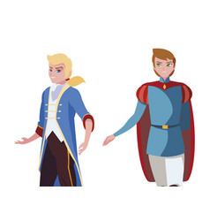 Princes charming tales characters vector
