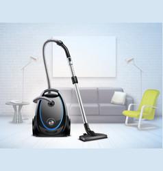 realistic vacuum cleaner interior vector image