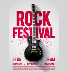 rock festival concert party flyer or poster vector image