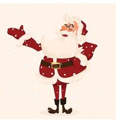 Santa character Cartoon vector image