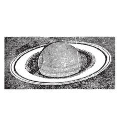 Saturn vintage vector