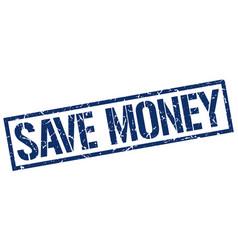 Save money stamp vector