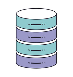 Server hosting storage icon in color section vector
