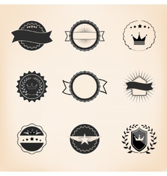 set retro stamps and badges vector image