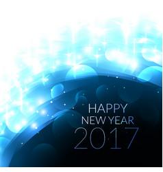 Shiny blye 2017 happy new year card vector