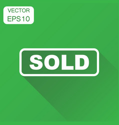 Sold seal stamp icon business concept sold vector