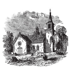 st johns church vintage vector image