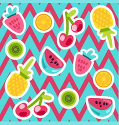 summer fruits patterns vector image