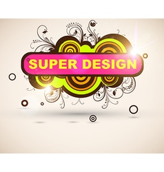 Super Floral Grunge Design vector image