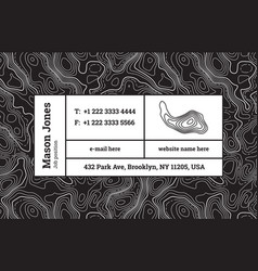 super trendy business card template contour map vector image