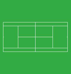 Tennis court top view vector