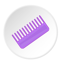 Toothed comb icon cartoon style vector image