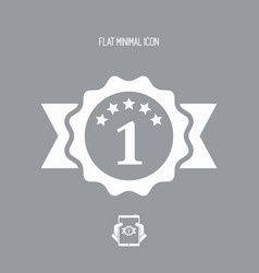 Top rating - flat minimal icon vector