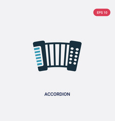 Two color accordion icon from music concept vector