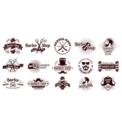 vintage barber badges gentleman haircut styling vector image