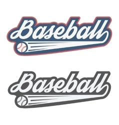Vintage baseball label and badge vector