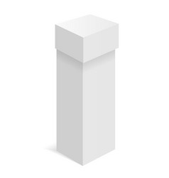 white isometric box carton vector image