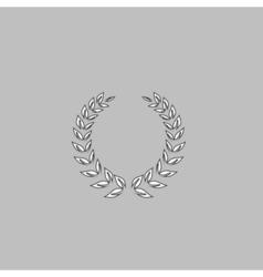 winner wreath computer symbol vector image