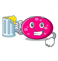 with juice ellipse mascot cartoon style vector image