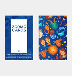 zodiac signs set banners vector image