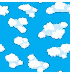 abstract clouds background seamless vector image