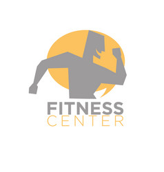 fitness center logo design of silhouette running vector image
