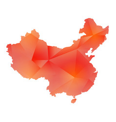 map of china polygon vector image