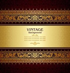 Royal vintage burgundy background vector image vector image