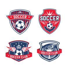soccer team or football club heraldic icon vector image vector image