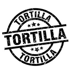 Tortilla round grunge black stamp vector