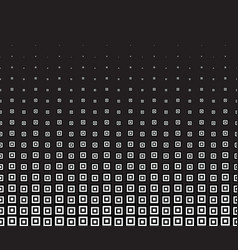 Black abstract halftone background with square vector