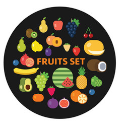 collection of fresh vegetables and fruits healthy vector image