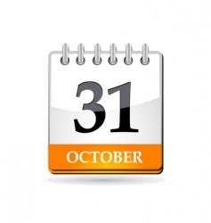 Halloween calendar vector