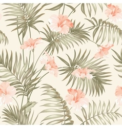 Hand draw tropical flower vector image
