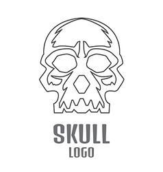 Skull logo linear Human skull logo vector image vector image