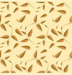 tea leaves seamless pattern vector image
