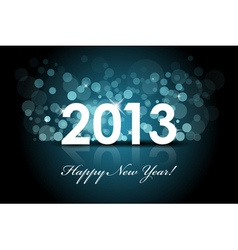 2013 - New year blue background vector image vector image