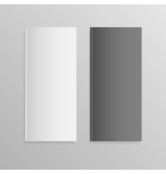 Blank empty magazine or book mock up two vector