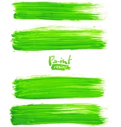 Bright green acrylic brush strokes vector image vector image