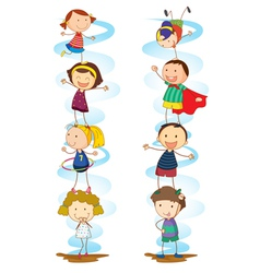 Cartoon Kids Activities vector image